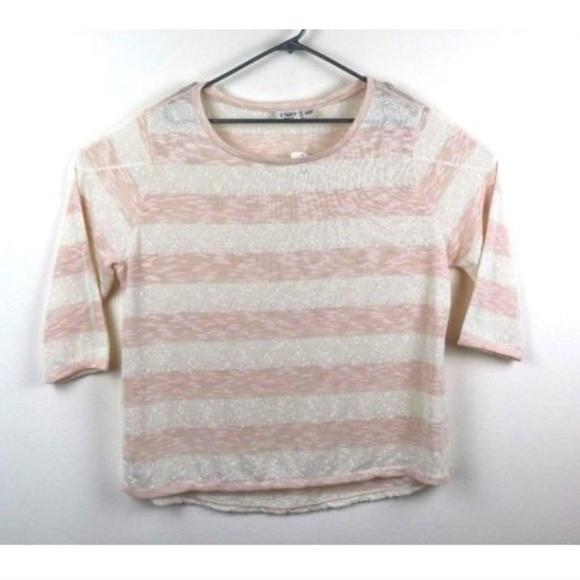 a8c84f5654d3b CATO Woman 3 4 Sleeve Sheer Shirt Top Layer